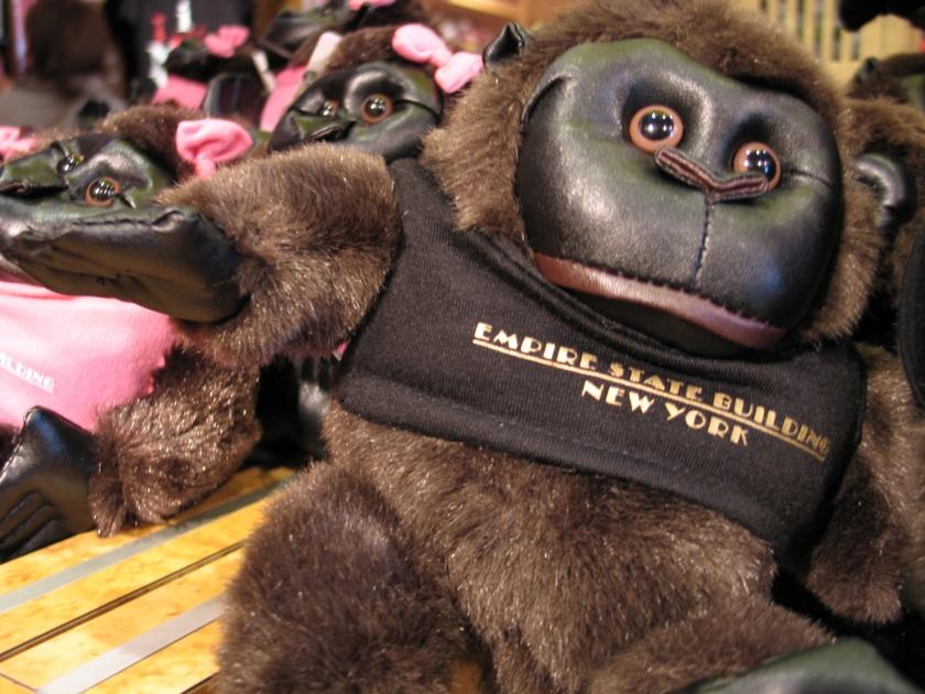 Boneco de pelúcia do gorila King Kong