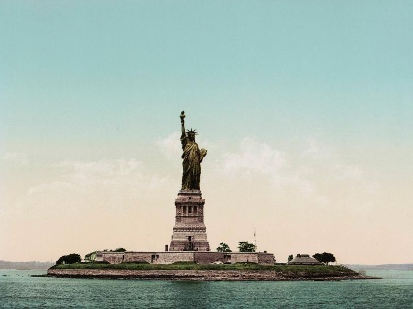 Cartão postal da Estátua da Liberdade, em 1900