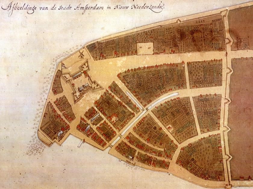 O mais antigo mapa manuscrito de Nova Amsterdã, de 1660