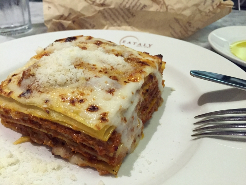 Lasanha à bolonhesa do La Pasta