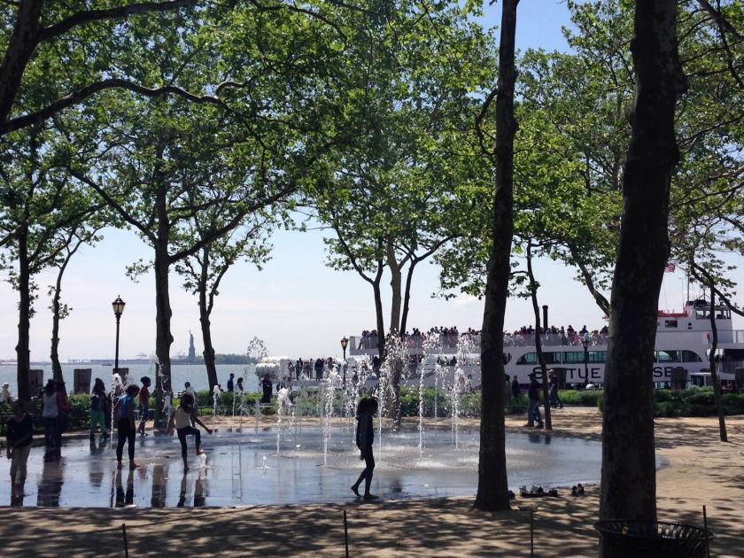 Ellis Island, com vista para a Estátua da Liberdade