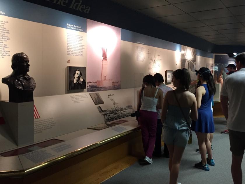 Museu dentro da Estátua da Liberdade