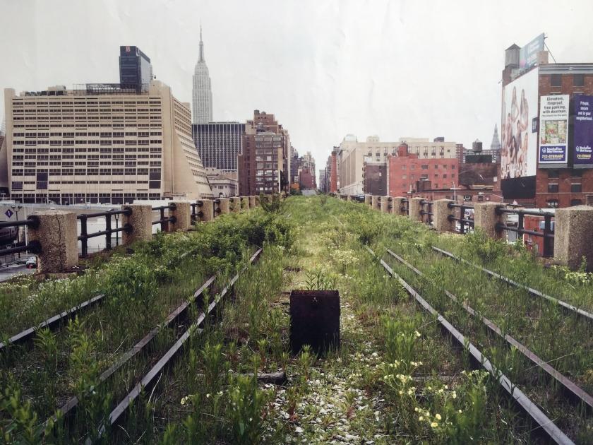 High Line na década de 1990, antes da reforma