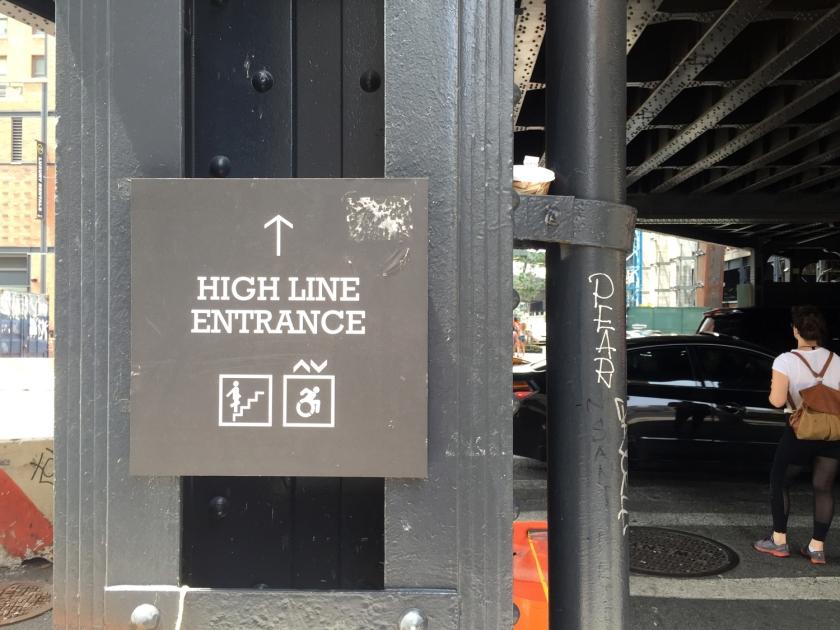 Uma das entradas do High Line Park