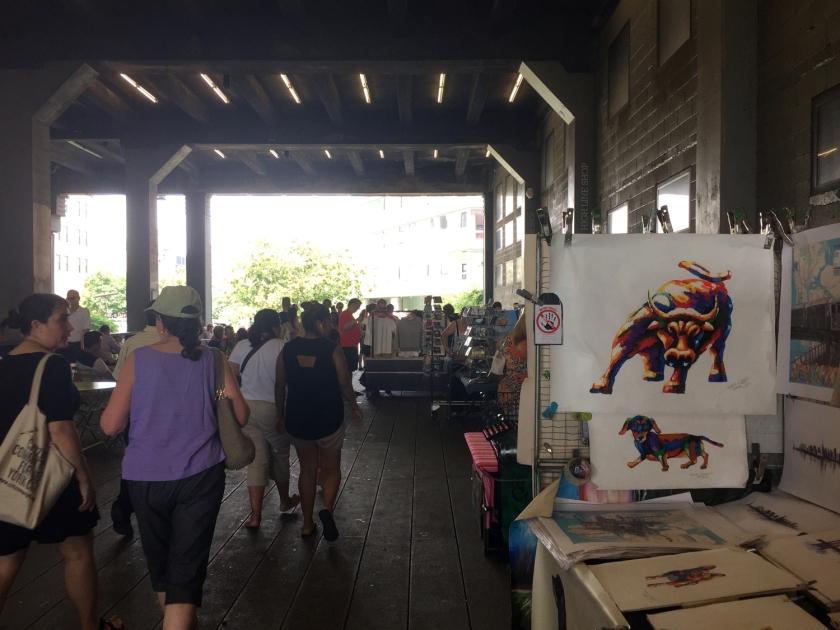 Exposição de produtos no High Line Park