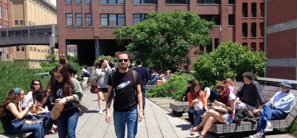 Caminhada no High Line Park