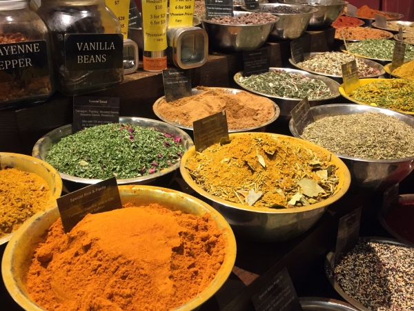 Temperos vendidos à granel no Chelsea Market