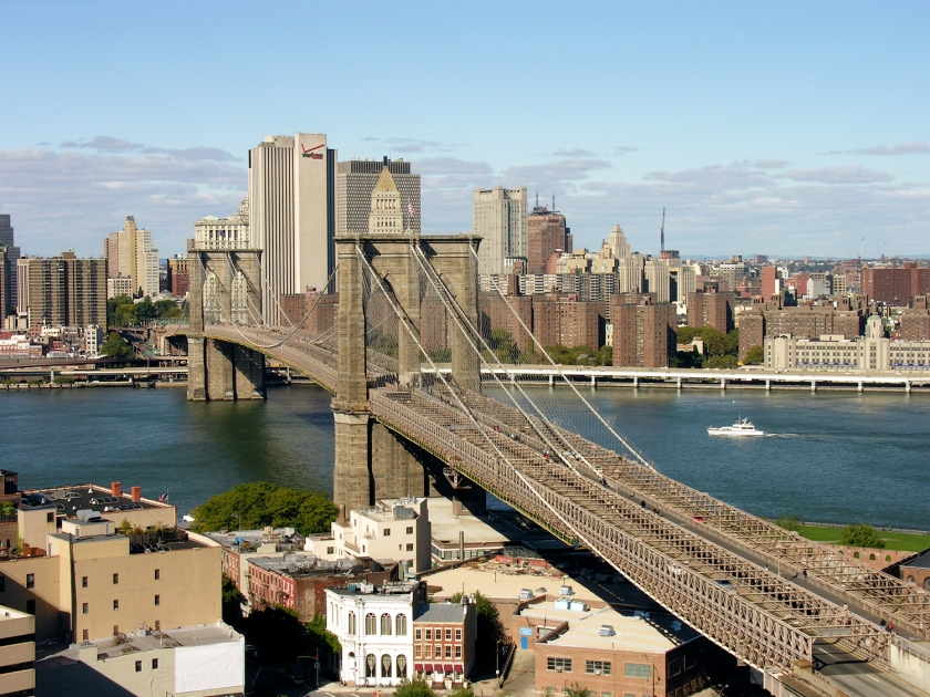 A ponte vista do Brooklyn