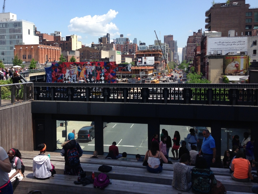 Vista de Manhattan a partir do High Line Park