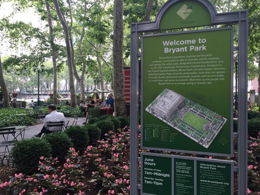 Bryant Park, em Nova York