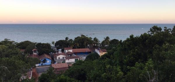 Vista do vilarejo de Cumuruxatiba