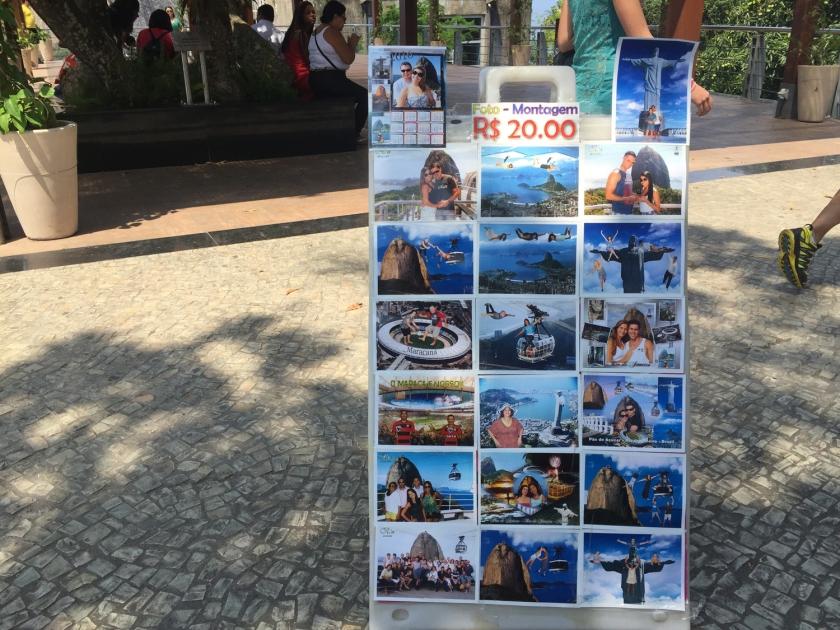 Foto-montagens maravilhosas vendidas no Morro da Urca