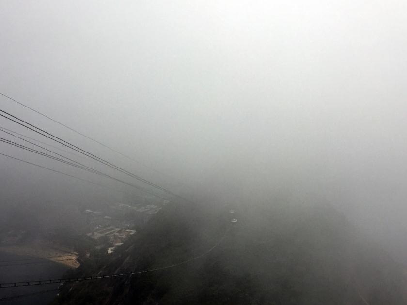 Vista do Pão de Açúcar em dia nublado