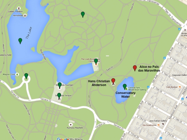 Mapa da região do Conservatory Water