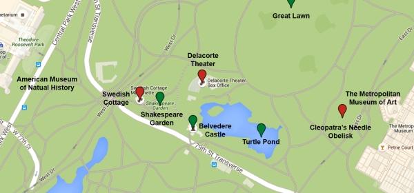 Mapa da região do Turtle Pond