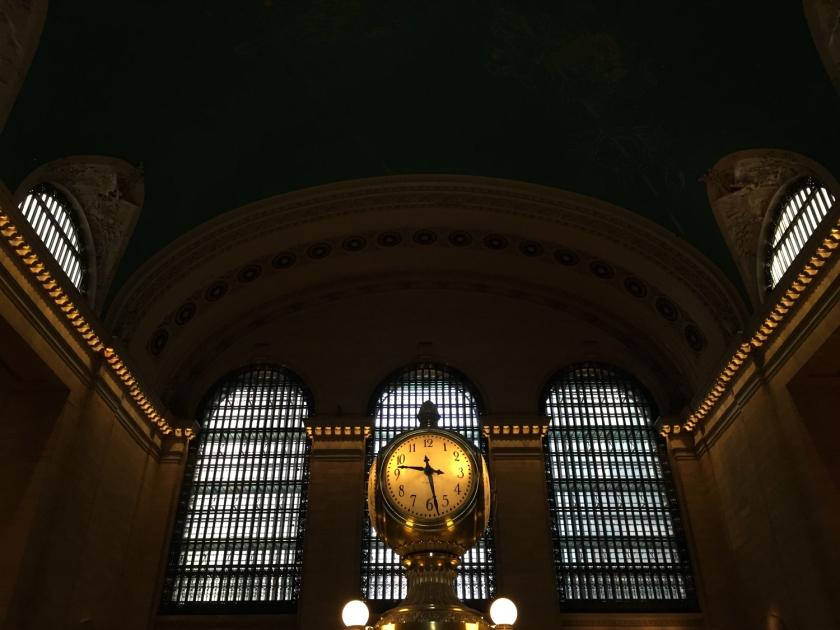 Detalhe do relógio no balcão de informações do Grand Central Terminal