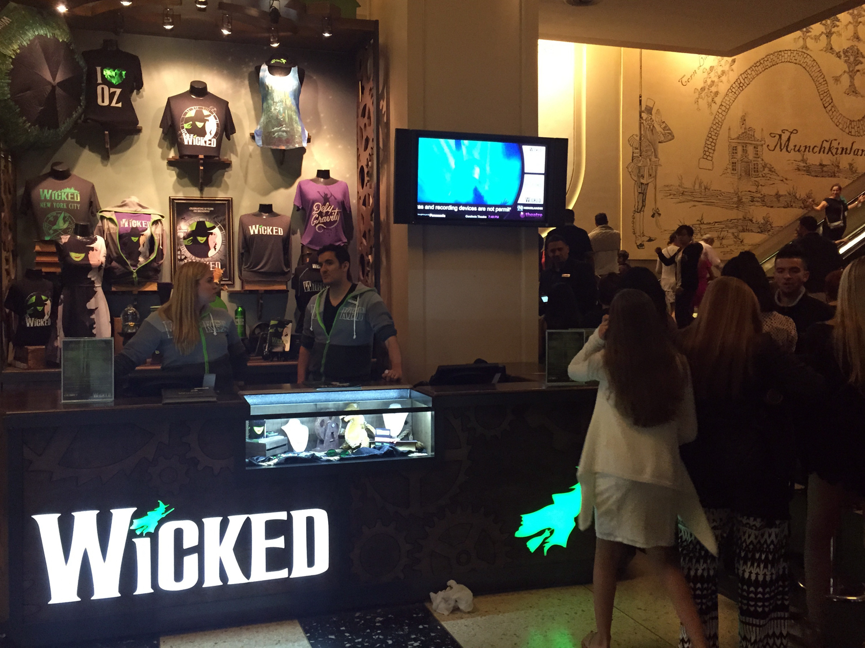 Souvenirs do espetáculo Wicked