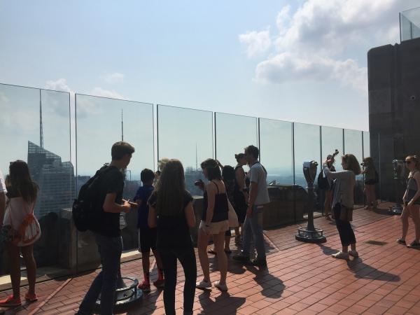 Terraço no 67° andar do Top of the Rock