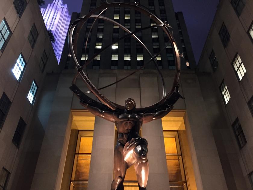 Escultura de Atlas, no Rockfeller Center