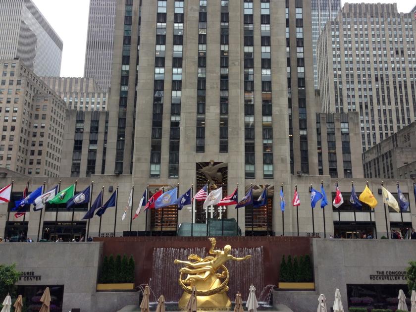 Escultura de Prometheus, na Rockefeller Plaza