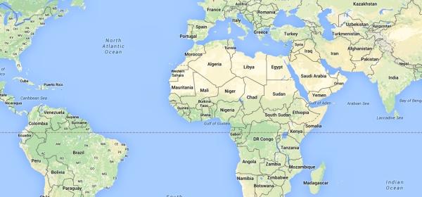 Localização de Paris no Mapa Mundi