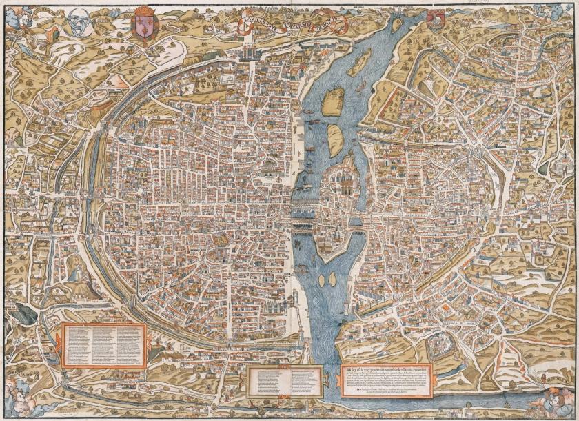 Mapa de Paris em 1550