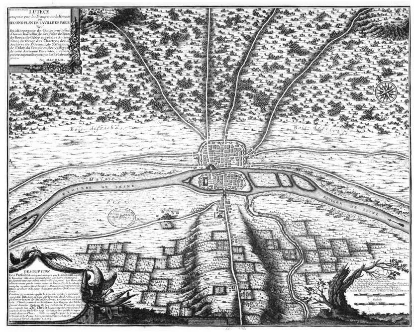 Mapa da Paris de 508 d.C.