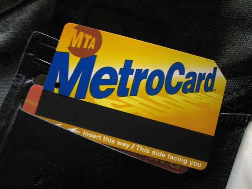 Metrocard para acesso ao metrô e ônibus