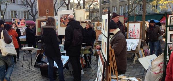 Obras à venda na Place du Tertre