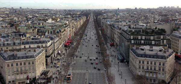 Avenue des Champs-Élysées vista do Arco do Triunfo