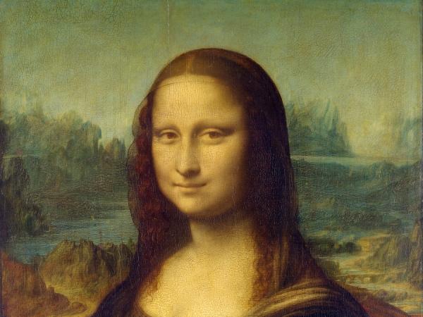 Detalhe do rosto da Mona Lisa