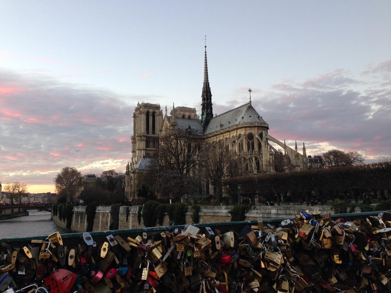 Notre-Dame vista da Pont de l'Archevêché