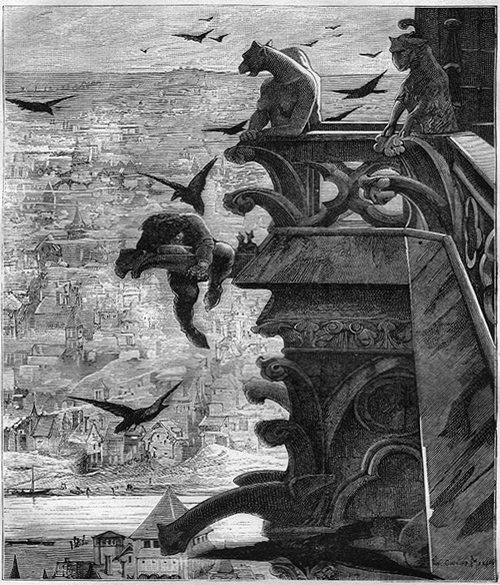 Quasimodo na Catedral de Notre Dame | Ilustração: Luc-Olivier Merson