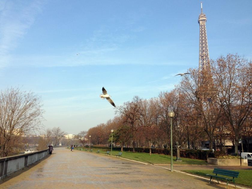Pequena caminhada à margem do rio Sena