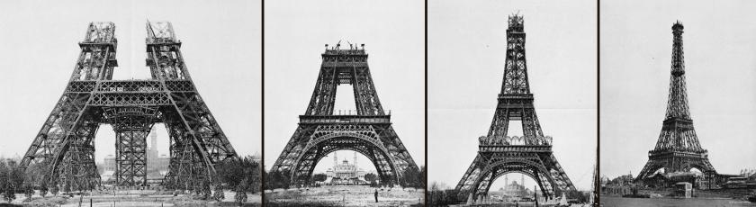 Construção da torre Eiffel - 15/05/1888 | 21/10/1888 | 26/12/1888 | 15/03/1889