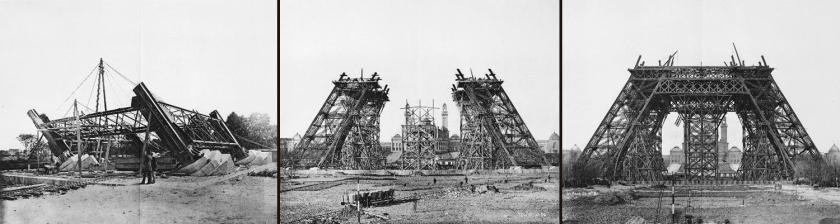 Construção da torre Eiffel - 12/07/1887 | 7/12/1887 | 20/03/1888