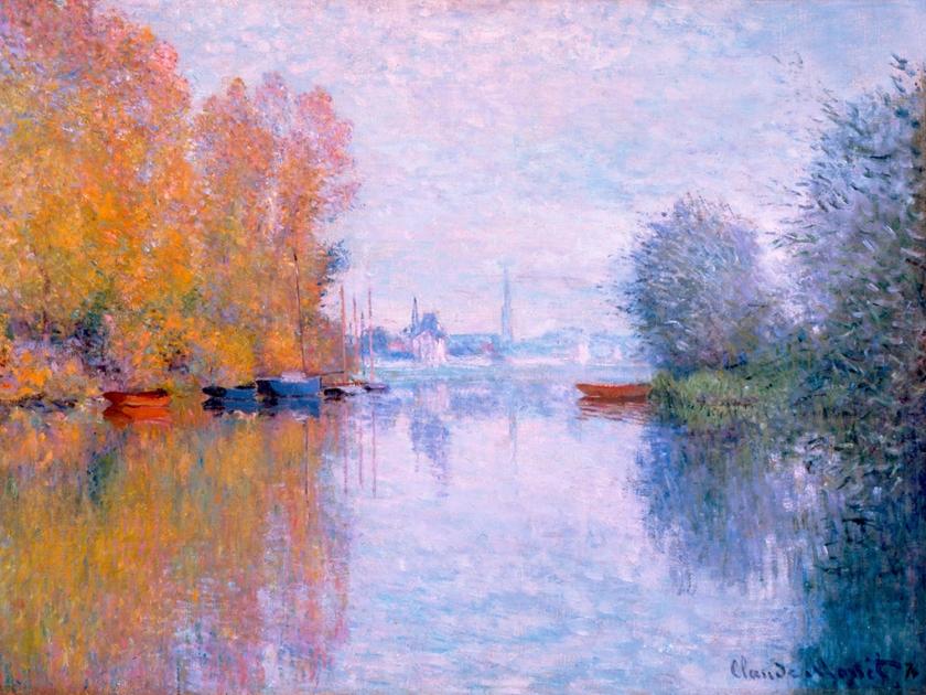 Automne sur la Seine, Argenteuil, de 1873 | Claude Monet