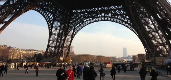 A base da Torre Eiffel