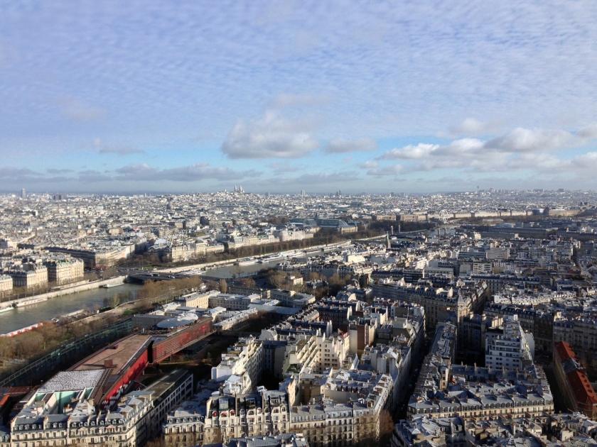 Vista do primeiro andar da Torre Eiffel