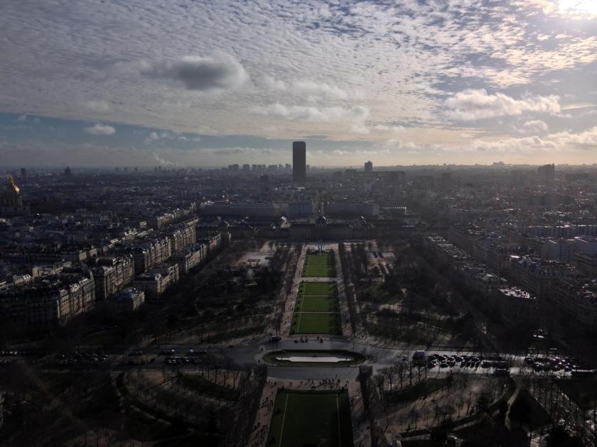 Vista do segundo andar da Torre Eiffel