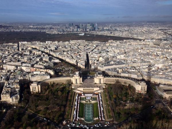 Vista do topo da Torre Eiffel