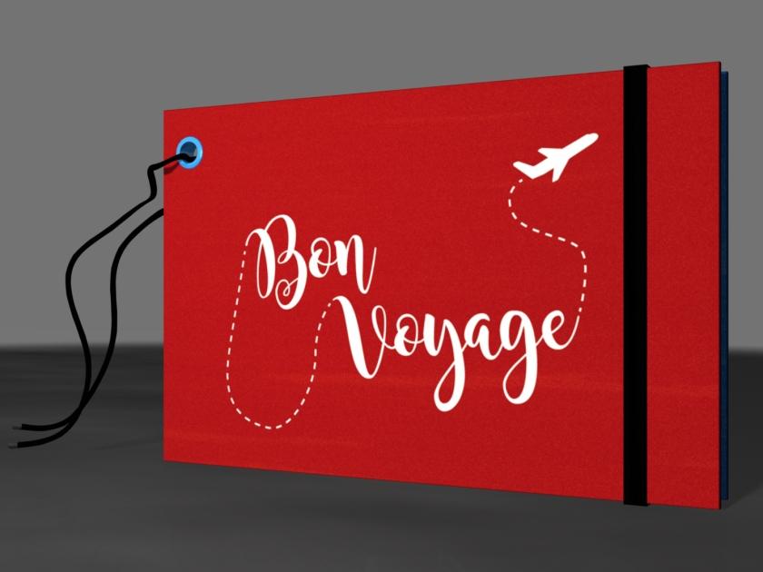 """Tag de mala """"Bon Voyage"""""""