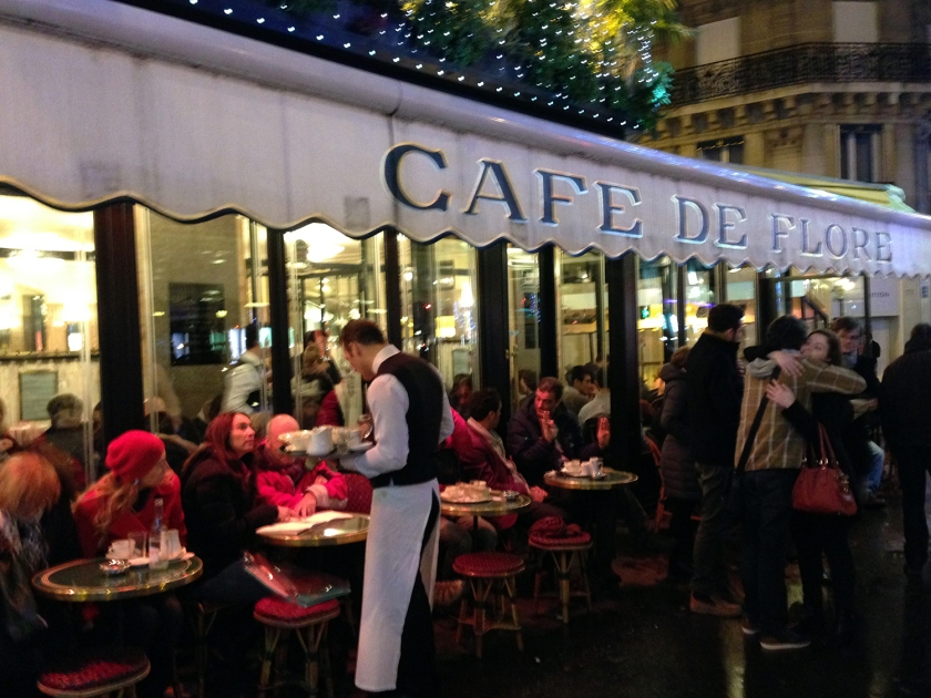 Café de Flore à noite