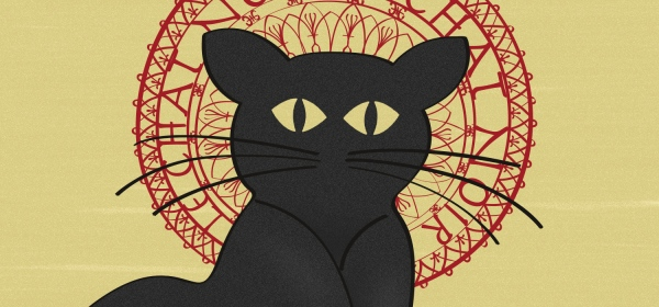 Detalhe do pôster Le Chat Noir