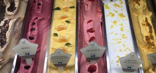 Sabores de frutas do Lullo Gelato