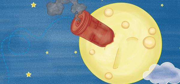 Capa do caderno Le voyage dans la Lune