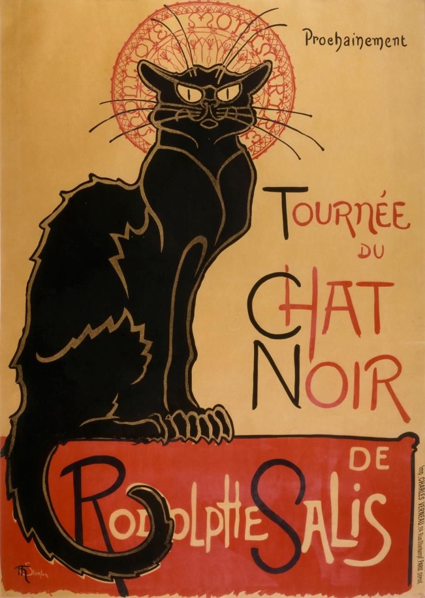 Poster da turnê do Chat Noir | Autor: Théophile Steinlen