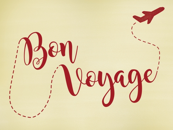 Tag para mala Bon Voyage
