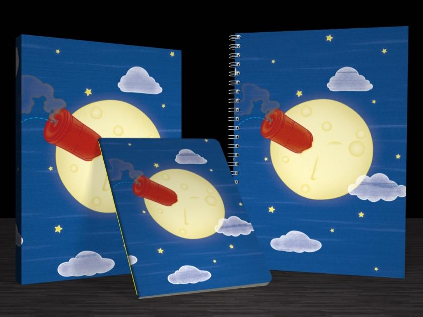 """Cadernos """"Voyage dans la lune"""""""