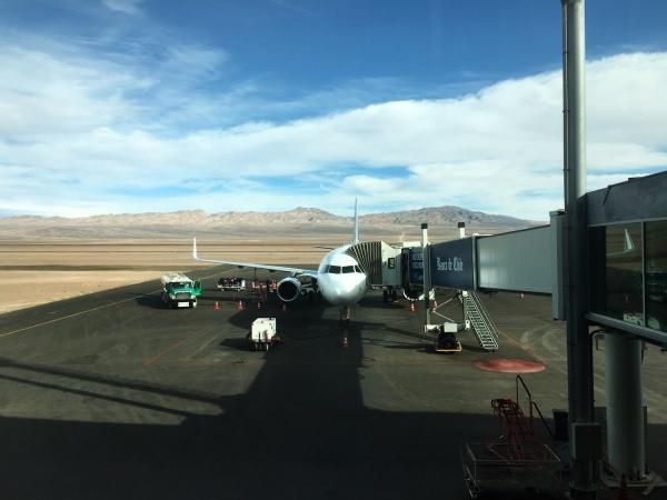 Avião chegando em Calama